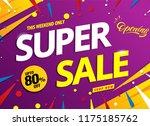 super sale banner template... | Shutterstock .eps vector #1175185762