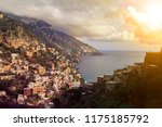 positano town sout italy most... | Shutterstock . vector #1175185792