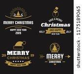 christmas vector logo for... | Shutterstock .eps vector #1175189065