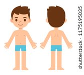 cartoon boy in underwear  front ... | Shutterstock . vector #1175195035