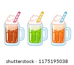 cartoon soda ice cream floats... | Shutterstock . vector #1175195038