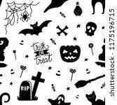 black and white seamless... | Shutterstock .eps vector #1175196715