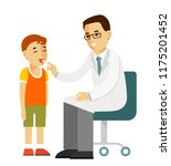 pediatrician doctor concept.... | Shutterstock .eps vector #1175201452