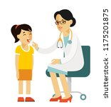 pediatrician doctor concept.... | Shutterstock .eps vector #1175201875