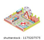 modern isolated circus and... | Shutterstock .eps vector #1175207575