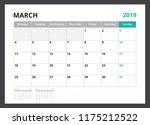 2019 calendar planner corporate ... | Shutterstock .eps vector #1175212522