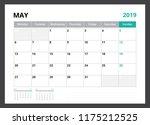 2019 calendar planner corporate ... | Shutterstock .eps vector #1175212525