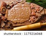 ingredients for baking... | Shutterstock . vector #1175216068