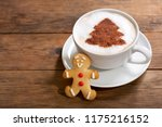 christmas drink. cup of... | Shutterstock . vector #1175216152