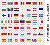 all flags of the countries of... | Shutterstock .eps vector #1175228065
