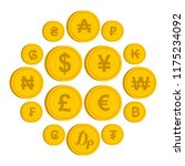 currency from different... | Shutterstock . vector #1175234092