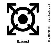expand icon vector isolated on...