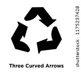 three curved arrows icon vector ... | Shutterstock .eps vector #1175237428