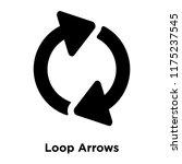 loop arrows icon vector... | Shutterstock .eps vector #1175237545