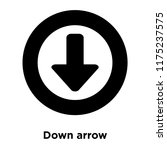 down arrow icon vector isolated ... | Shutterstock .eps vector #1175237575