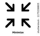 minimize icon vector isolated...
