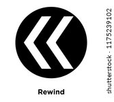 rewind icon vector isolated on...