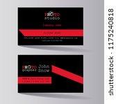 photo studio. business card of... | Shutterstock .eps vector #1175240818