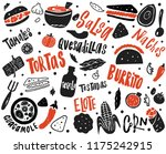 mexican street food... | Shutterstock .eps vector #1175242915