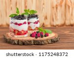 trifle close up photography...   Shutterstock . vector #1175248372