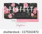 perfect slogan on rose... | Shutterstock .eps vector #1175261872