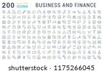 set of vector line icons of... | Shutterstock .eps vector #1175266045