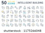 set of vector line icons of... | Shutterstock .eps vector #1175266048