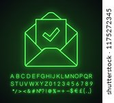 email confirmation neon light...   Shutterstock .eps vector #1175272345