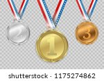 set of gold  bronze and silver. ... | Shutterstock .eps vector #1175274862