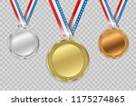 set of gold  bronze and silver. ... | Shutterstock .eps vector #1175274865