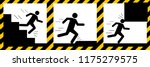set signs warning run down the... | Shutterstock .eps vector #1175279575
