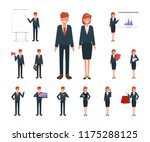 businesswoman and businessman... | Shutterstock .eps vector #1175288125