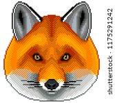 pixel fox portrait detailed... | Shutterstock .eps vector #1175291242