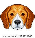 pixel beagle dog portrait... | Shutterstock .eps vector #1175291248