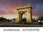 bucharest  romania   12 april ... | Shutterstock . vector #1175293702