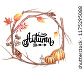 autumn illustration with an... | Shutterstock . vector #1175295088