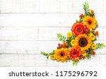 beautiful autumn flowers and...   Shutterstock . vector #1175296792