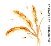 wheat spikes realism 3d vector... | Shutterstock .eps vector #1175298628