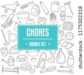 chores home work traditional... | Shutterstock .eps vector #1175302318