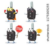 set of cartoon remote ignition... | Shutterstock .eps vector #1175305255