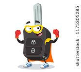 superhero cartoon remote... | Shutterstock .eps vector #1175305285