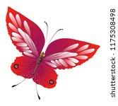beautiful red butterflies ... | Shutterstock . vector #1175308498