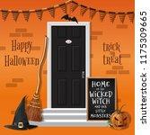 happy halloween. home of the... | Shutterstock .eps vector #1175309665