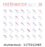 collection of vector flat icons ... | Shutterstock .eps vector #1175312485