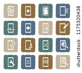 smart phone repair icons.... | Shutterstock .eps vector #1175320438