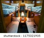 room cabin in express train... | Shutterstock . vector #1175321935