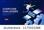 businessman jumping over series ... | Shutterstock .eps vector #1175322388