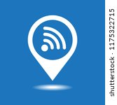 map pointer with wifi vector... | Shutterstock .eps vector #1175322715