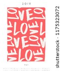 printable a4 size may 2019... | Shutterstock .eps vector #1175323072