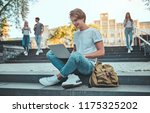 group of young people are... | Shutterstock . vector #1175325202